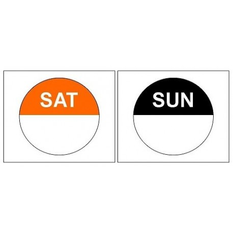 2 x 1,000 Day Dots - Saturday / Sunday - Colour Coded Food Labels - Peel Adhesive