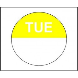 1,000 Day Dots - Tuesday - Colour Coded Food Labels - Peel Adhesive