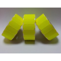 45,000 Fluorescent Yellow Peelable 26mm x 12mm Price Gun Labels CT4 Puma Lynx Motex Pricing