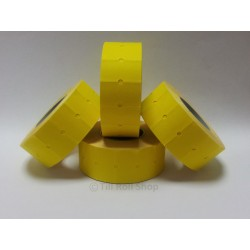 45,000 Yellow Permanent Price Gun Pricing Labels - CT1 22 x 12mm