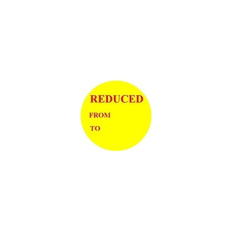 'Reduced' Promotional Labels / Stickers - Qty: 500