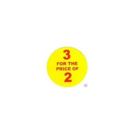'3 for 2' Promotional Labels / Stickers - Qty: 500