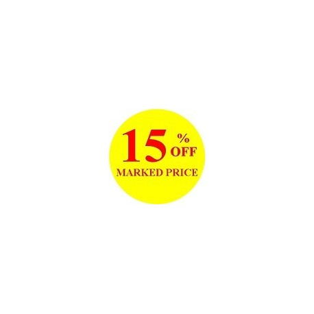 '15% off' Promotional Labels / Stickers - Qty: 500