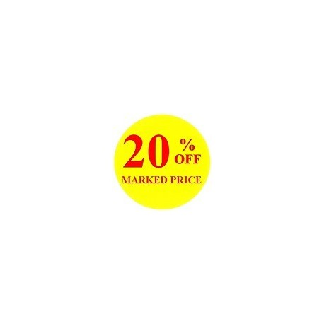 '20% off' Promotional Labels / Stickers - Qty: 500