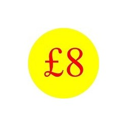 '£8' Promotional Labels / Stickers - Qty: 500