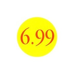 '6.99' Promotional Labels / Stickers - Qty: 500