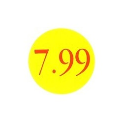 '7.99' Promotional Labels / Stickers - Qty: 500