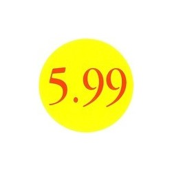 '5.99' Promotional Labels / Stickers - Qty: 2000