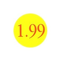 '1.99' Promotional Labels / Stickers - Qty: 2000
