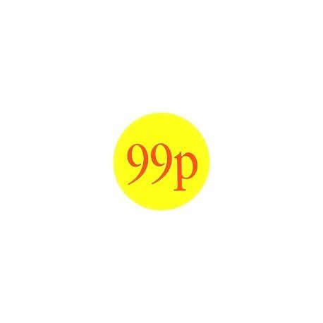 '99p' Promotional Labels / Stickers - Qty: 2000