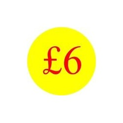 '£6' Promotional Labels / Stickers - Qty: 2000