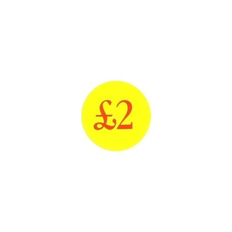 '£2' Promotional Labels / Stickers - Qty: 2000