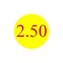 '2.50' Promotional Labels / Stickers - Qty: 500