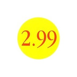 '2.99' Promotional Labels / Stickers - Qty: 2000