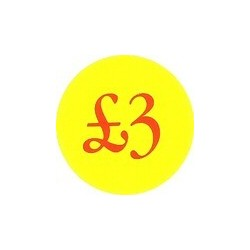 '£3' Promotional Labels / Stickers - Qty: 500