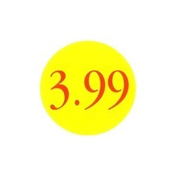 '3.99' Promotional Labels / Stickers - Qty: 500