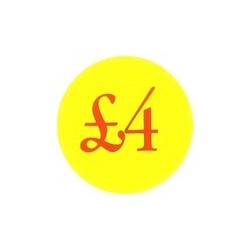 '£4' Promotional Labels / Stickers - Qty: 500