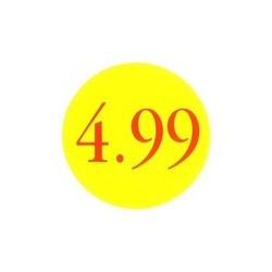 '4.99' Promotional Labels / Stickers - Qty: 500
