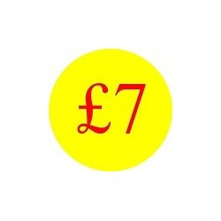 '£7' Promotional Labels / Stickers - Qty: 500