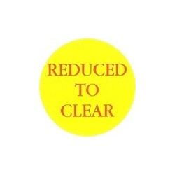 'Reduced To Clear' Promotional Labels / Stickers - Qty: 500