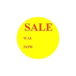 'Sale Was - Now off''Promotional Labels / Stickers - Qty: 2000